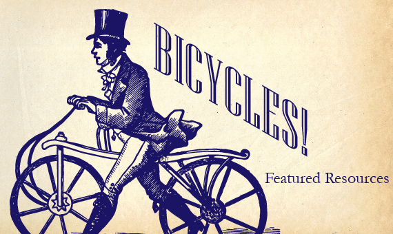 Promotional image for homepage headline: Featured Resources: Bicycles!