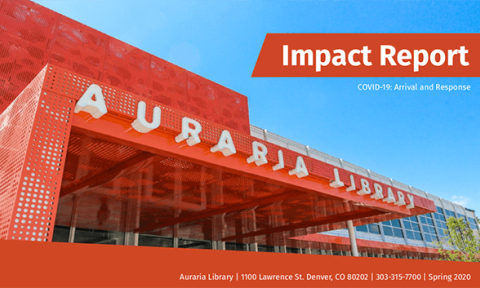 Auraria Library Impact Report Spring 2020 Cover
