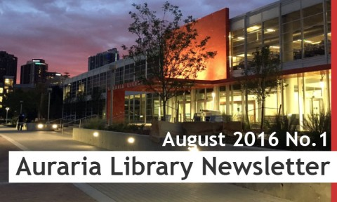 Auraria Library Newsletter August 2016 No.1