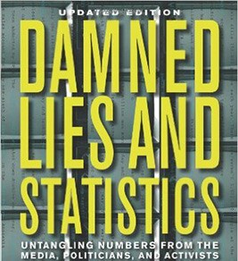 "Book cover for ""Damned Lies and Statistics"""
